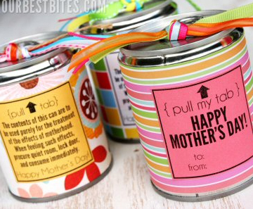 Tin Can Treat for Mother's Day