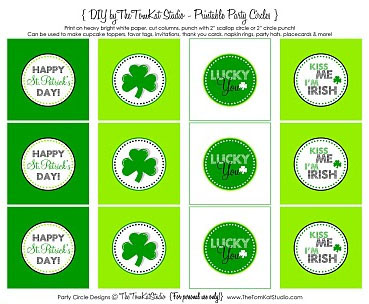 St. Patrick's Day Gift Tags 2
