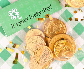 St. Patrick's Gold Coins Gift