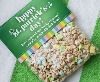 St. Patrick's Day Lucky Charms Bag Topper