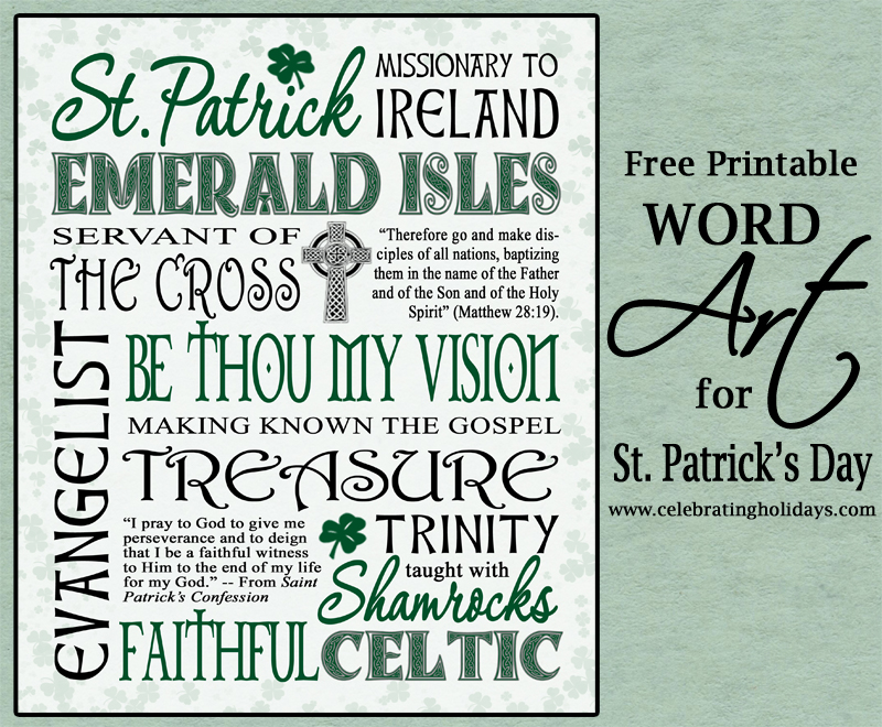 St. Patrick\'s Day Word Art | Celebrating Holidays