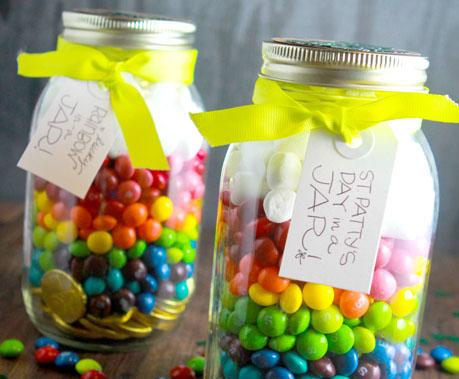Rainbow of Skittles for St. Patricks Day