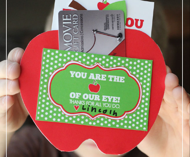 Apple Gift Card Holder for Teacher Appreciation