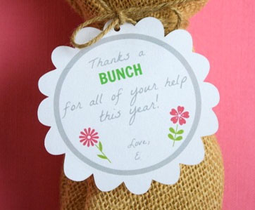 Free Gift Tag for Flowers for Teacher Appreciation