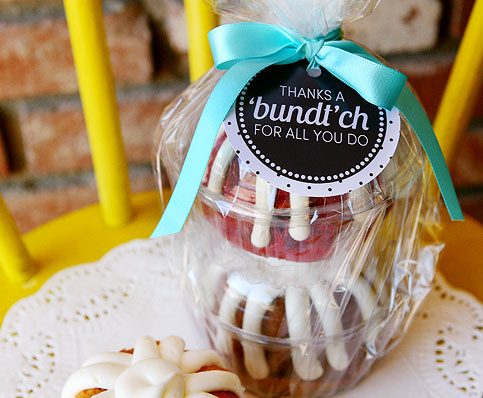 Mini Bundt Cake Teacher Gift
