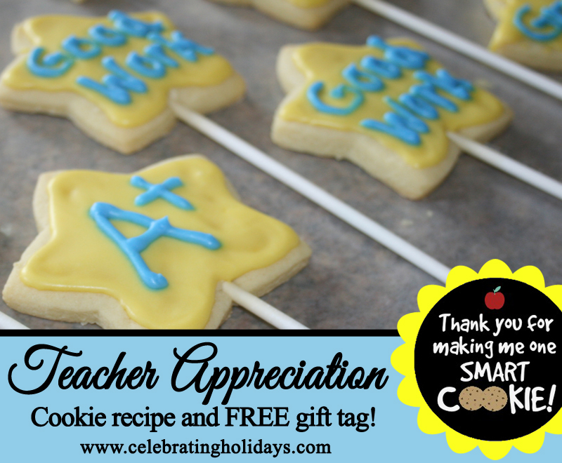 Cookie teacher gift celebrating holidays sugar cookie teacher gift idea negle Gallery