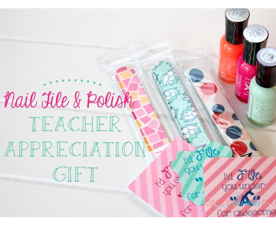Nail File and Polish for Teacher Appreciation