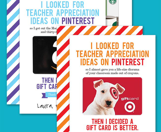 Funny Gift Card Holders for Teacher Appreciation