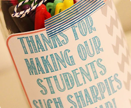 Sharpies for Teacher Appreciation