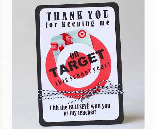 Target Gift Card for Teacher Appreciation