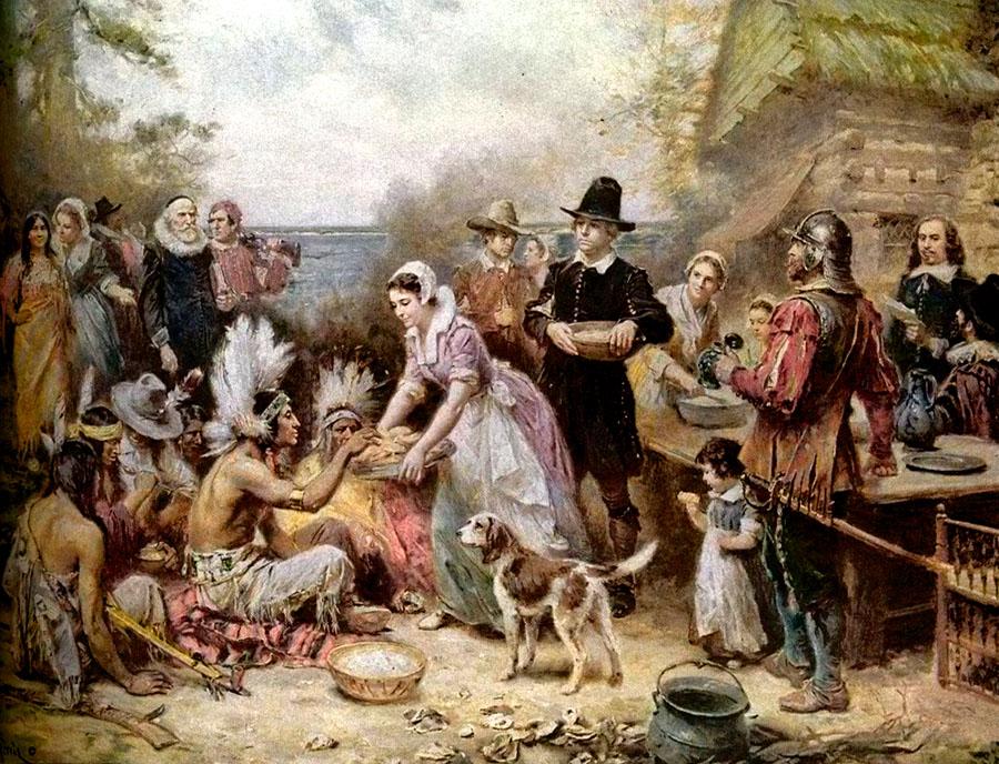 The Story Of The Pilgrims Celebrating Holidays