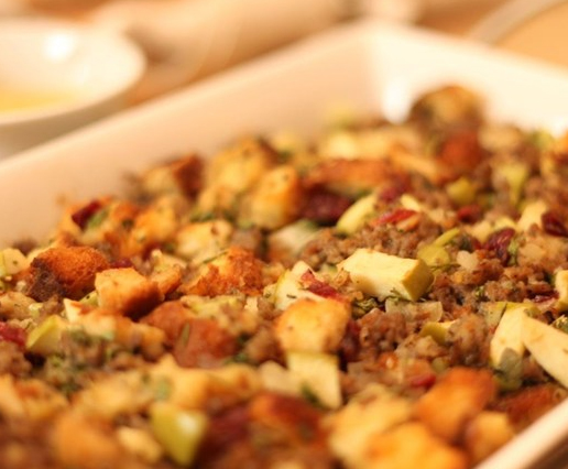 Stuffing (with Sausage, Apples and Cranberries)