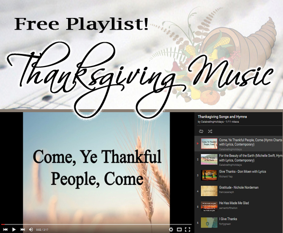 Free Thanksgiving Music Playlist of Songs