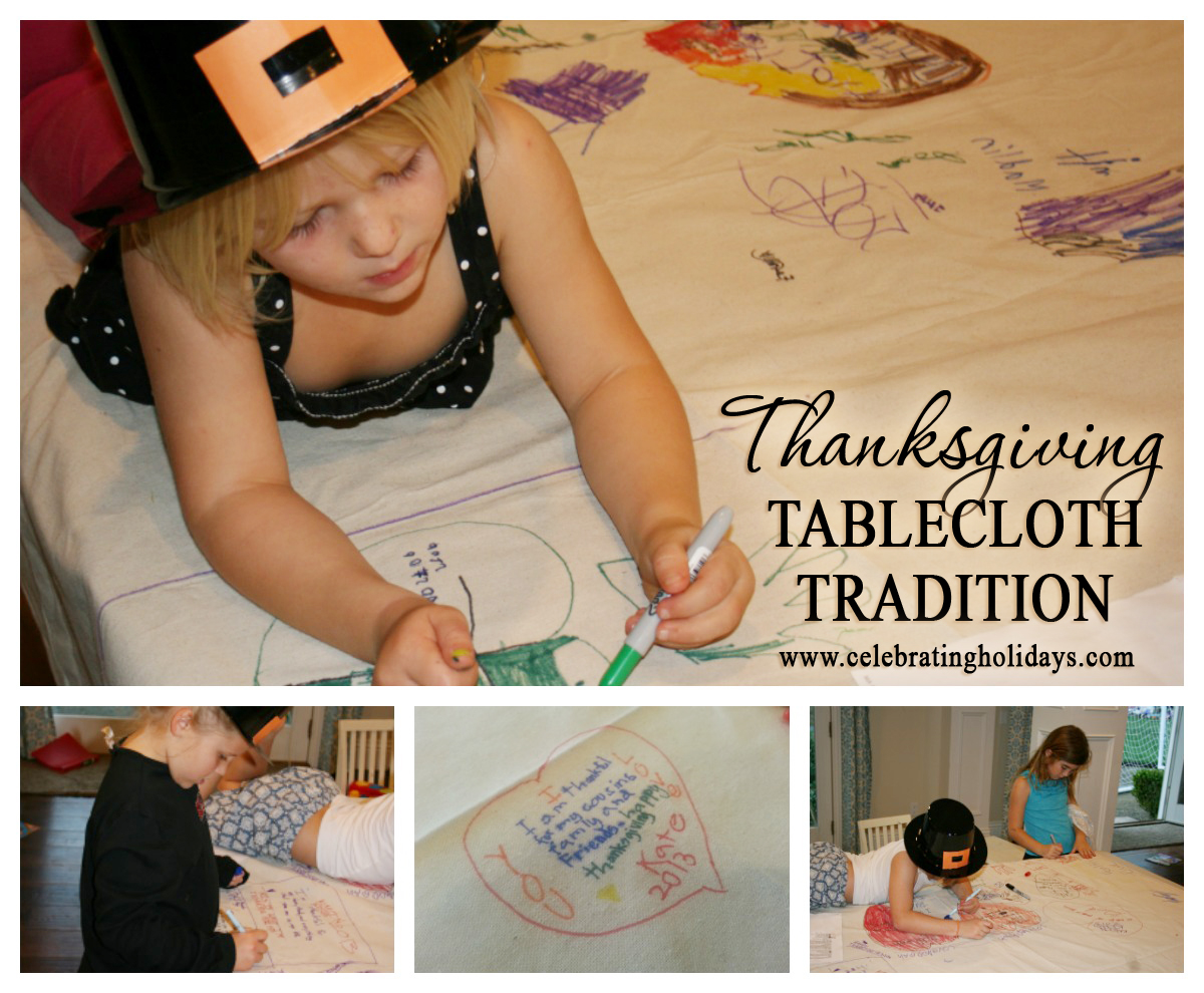 Tablecloth of Thanks for Thanksgiving