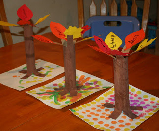 Paper Tube Tree of Thanks