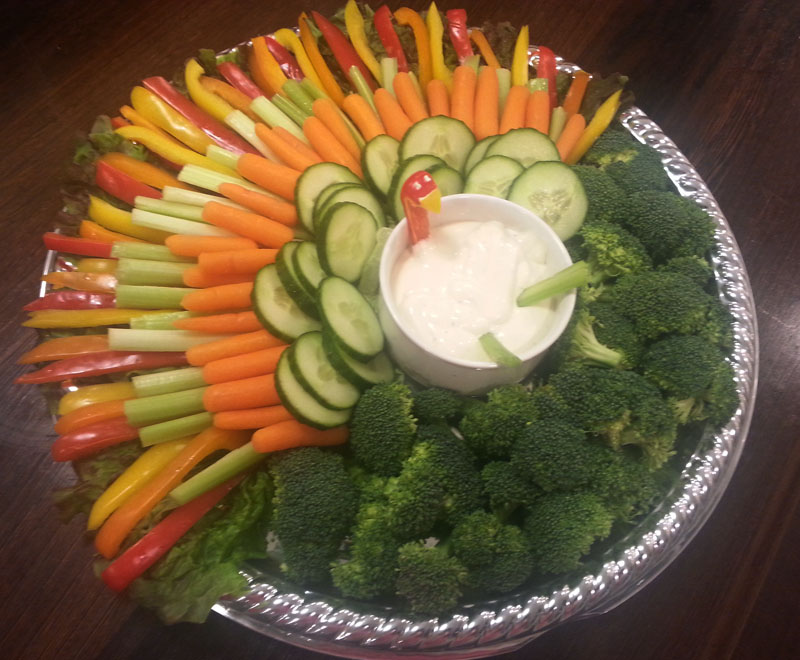 Thanksgiving Veggie Platter