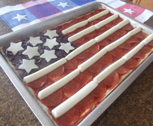 Flag Pizza Recipe