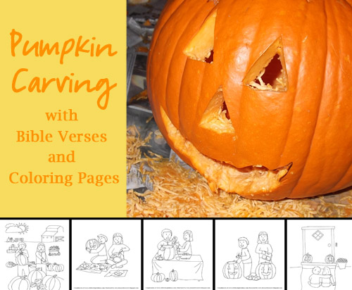 Pumpkin Carving with Bible Verses
