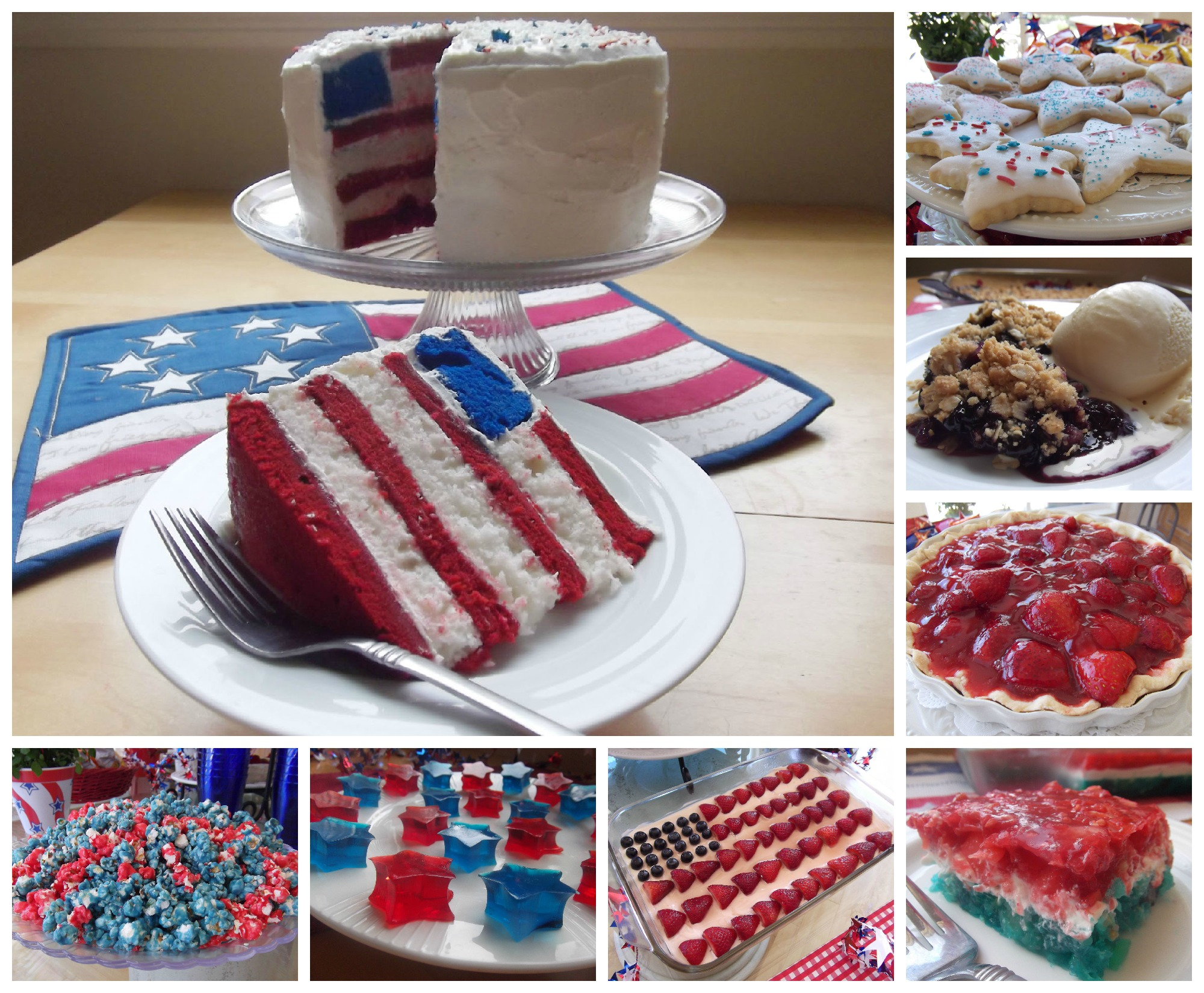 July 4th dessert and snack ideas and recipes celebrating for Fourth of july party dessert ideas
