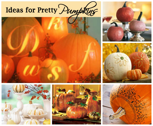 Pumpkin Ideas (Pretty and Elegant)