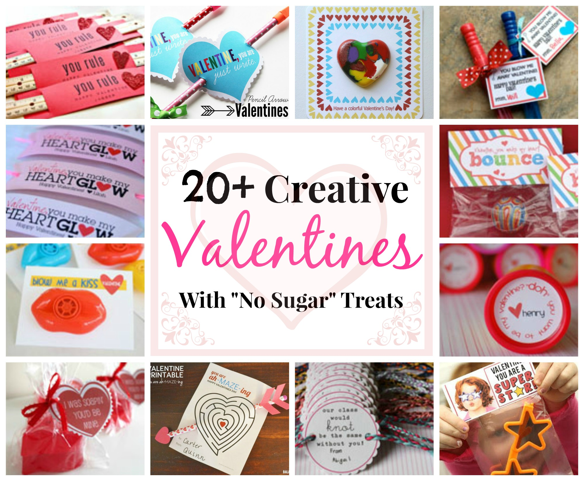 "Valentine w/ ""No Sugar"" Treats"