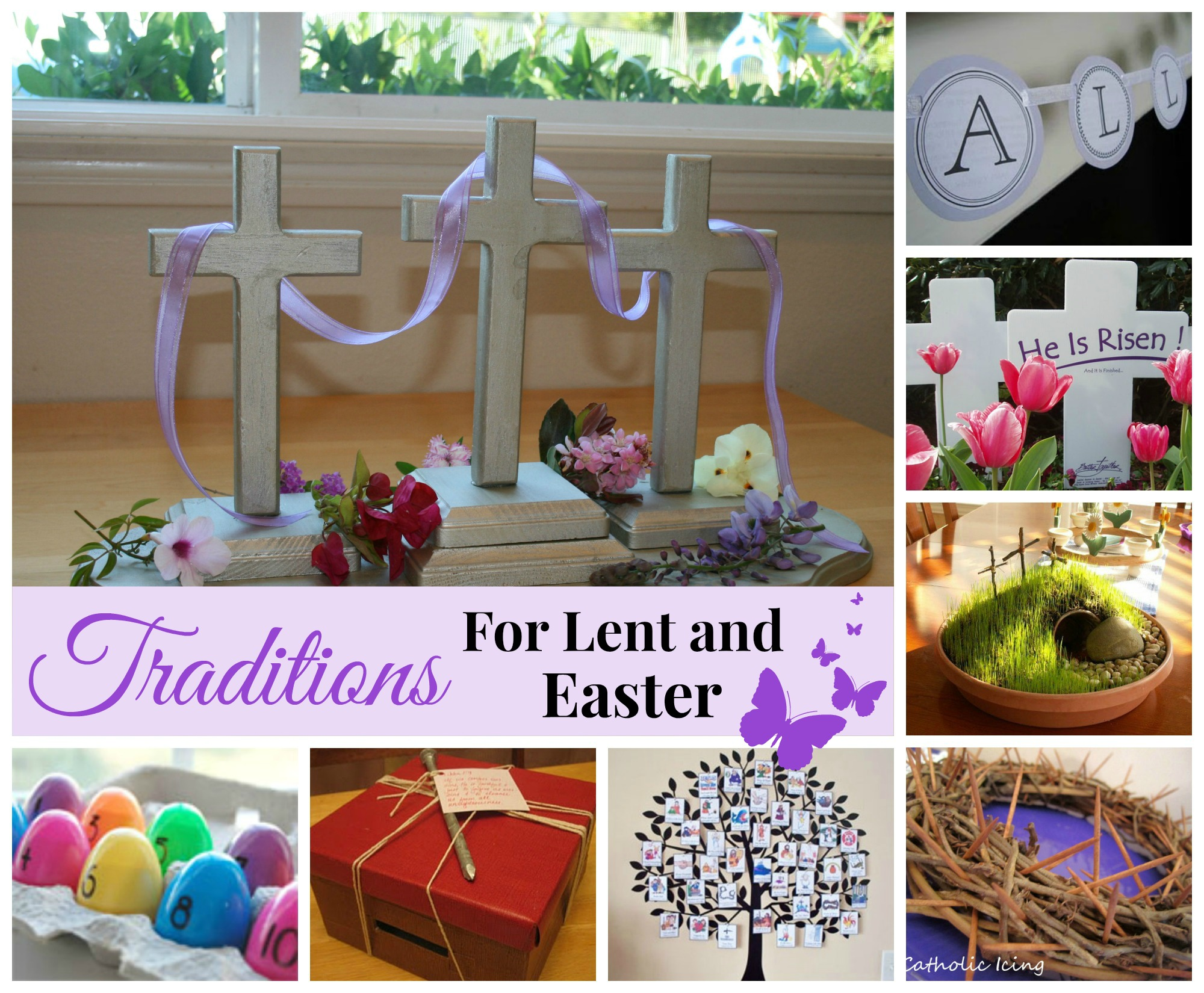 40 day countdown to easter ideas celebrating holidays for Lent decorations for home