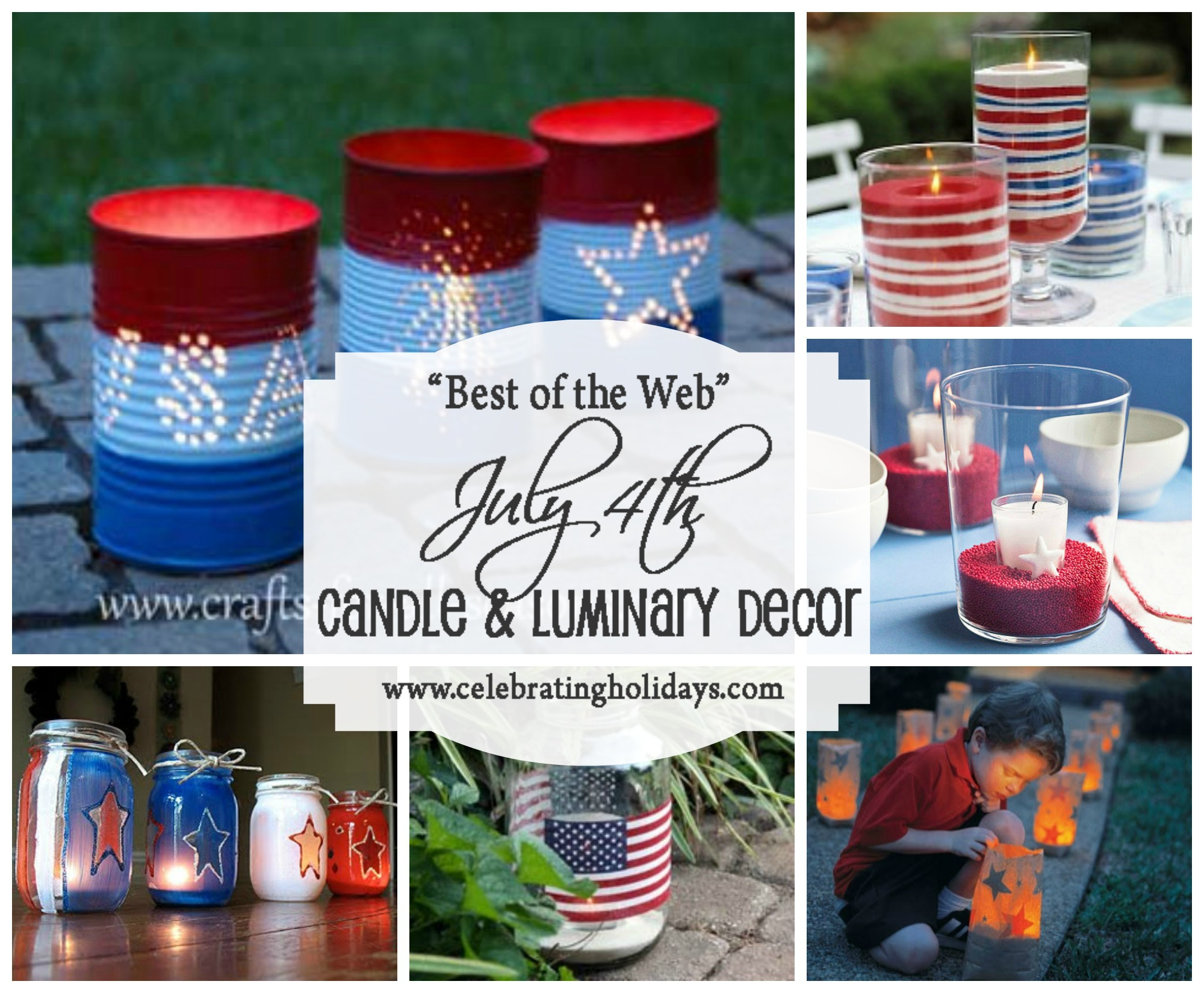 Candle and Luminary DIY Decorating for July 4th