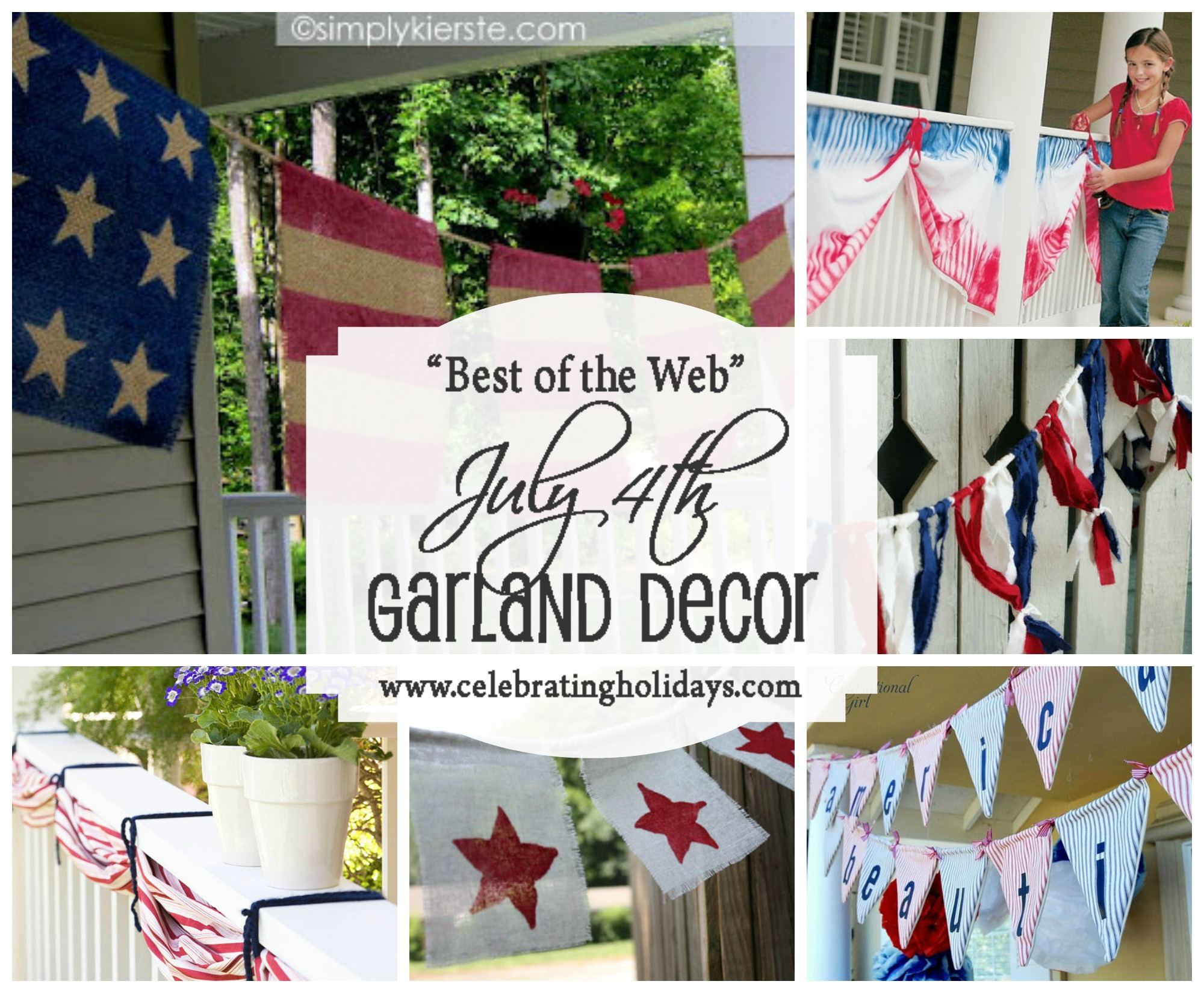 Garland DIY Decorating for July 4th