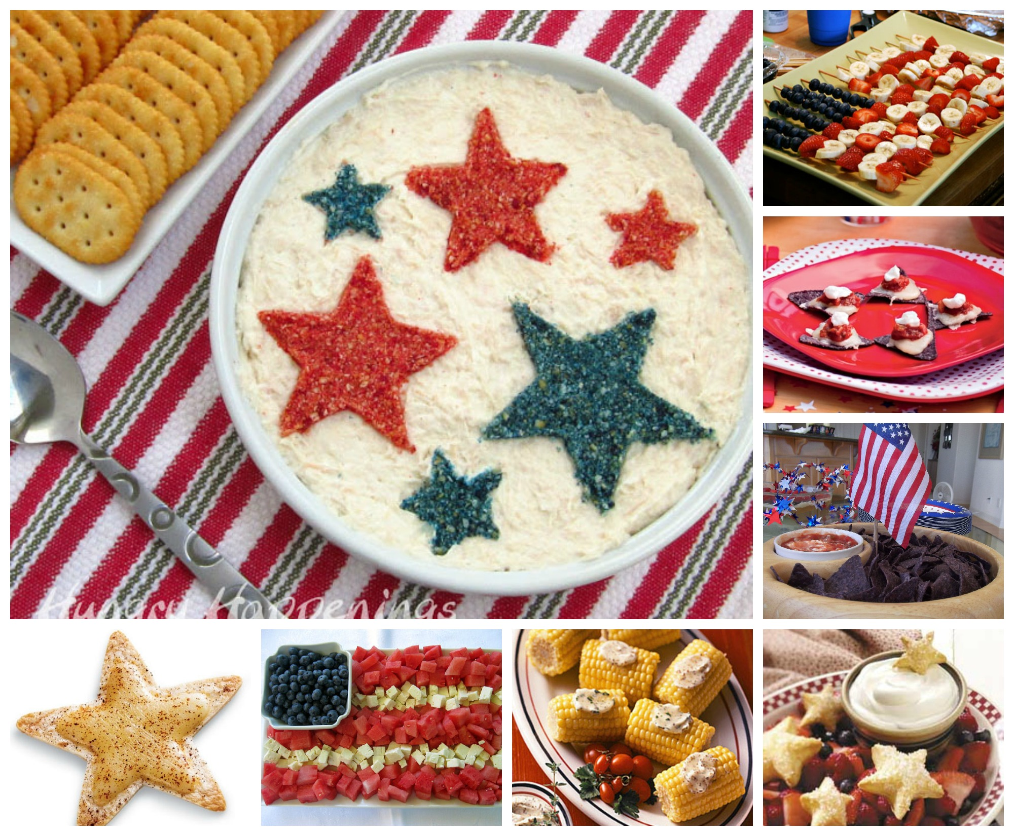 July 4th Appetizer Ideas and Recipes