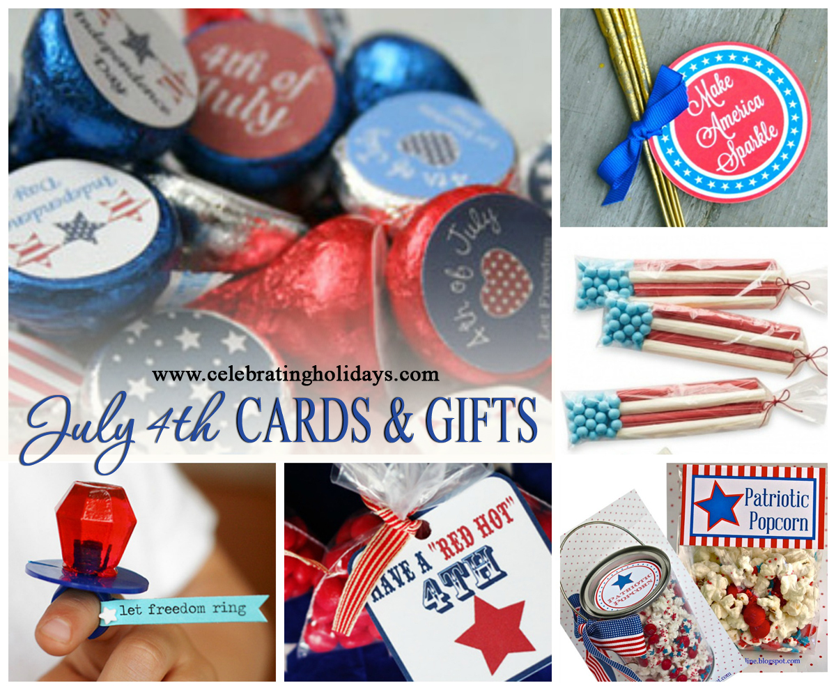 July 4th Independence Day Card Gift And Party Favor