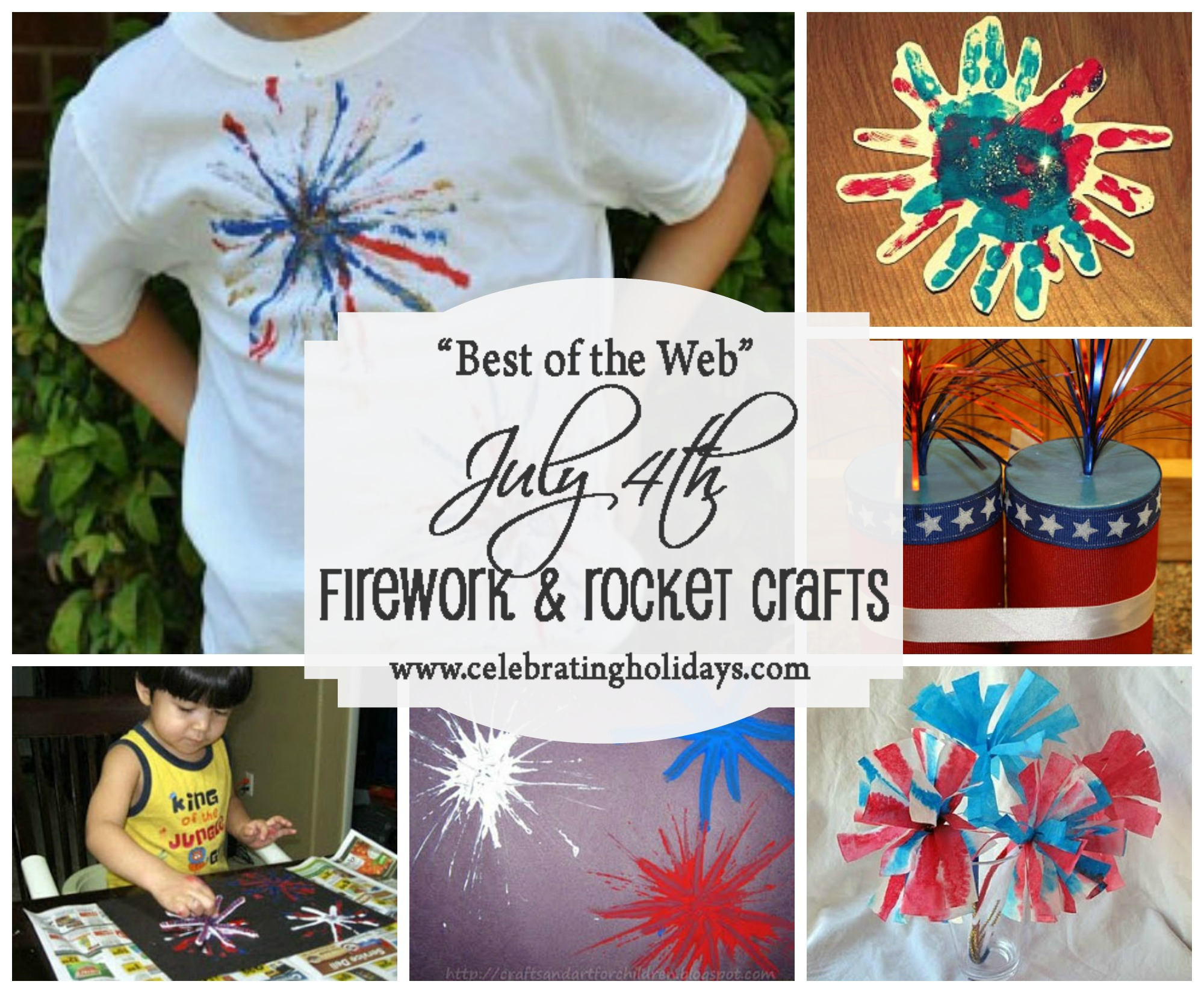 Firework and Rocket Crafts for July 4th