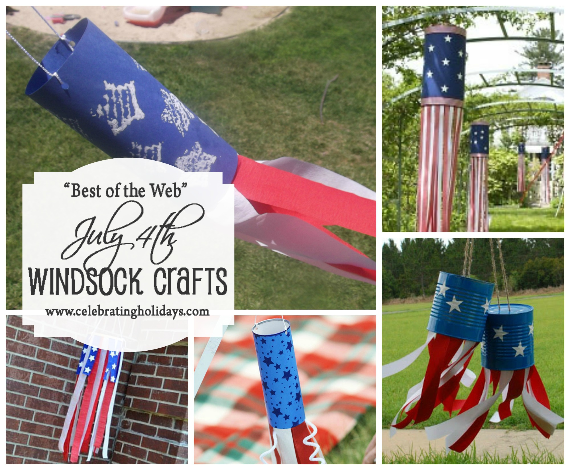 Windsock Crafts for July 4th