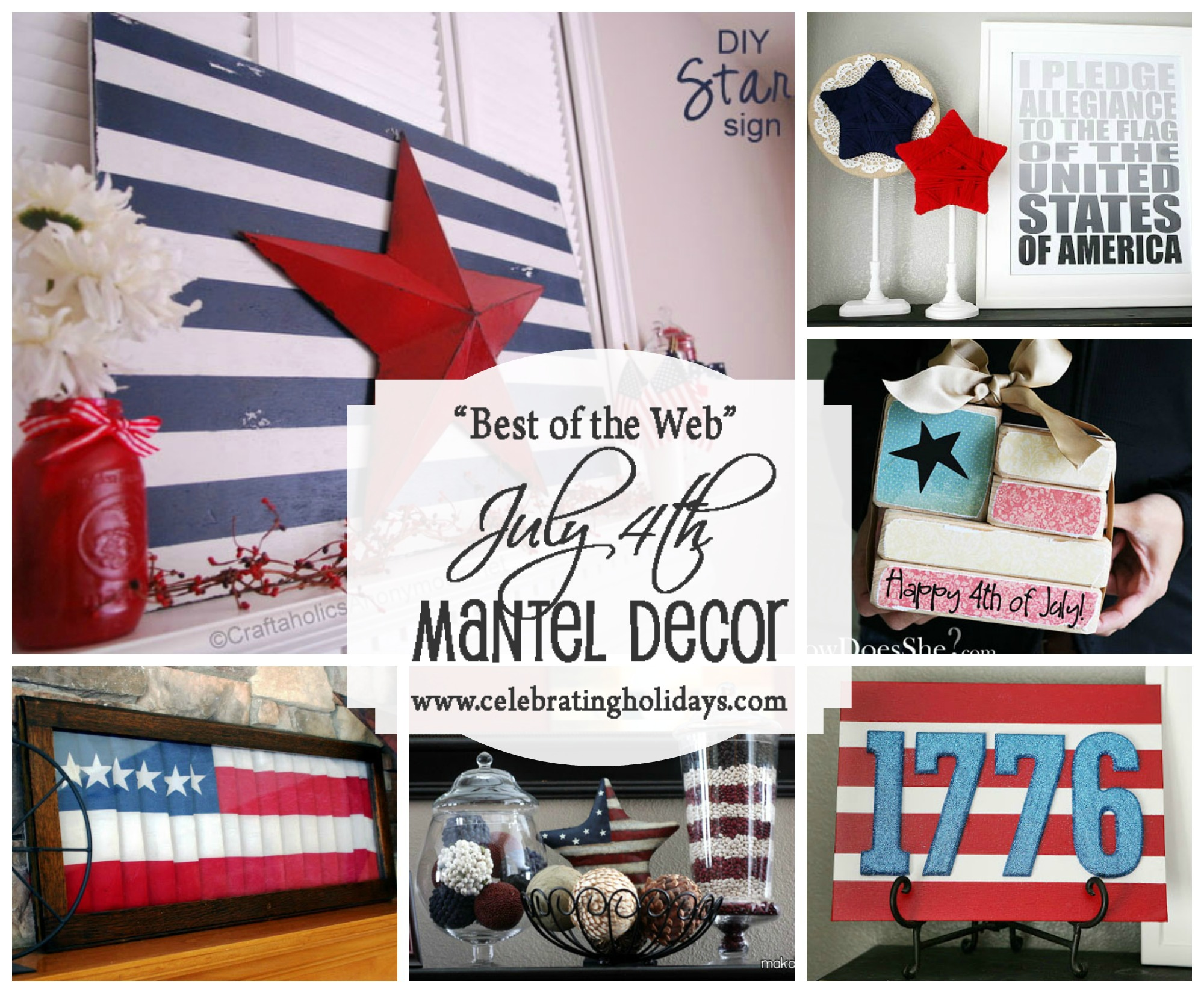 Mantel DIY Decorating for July 4th