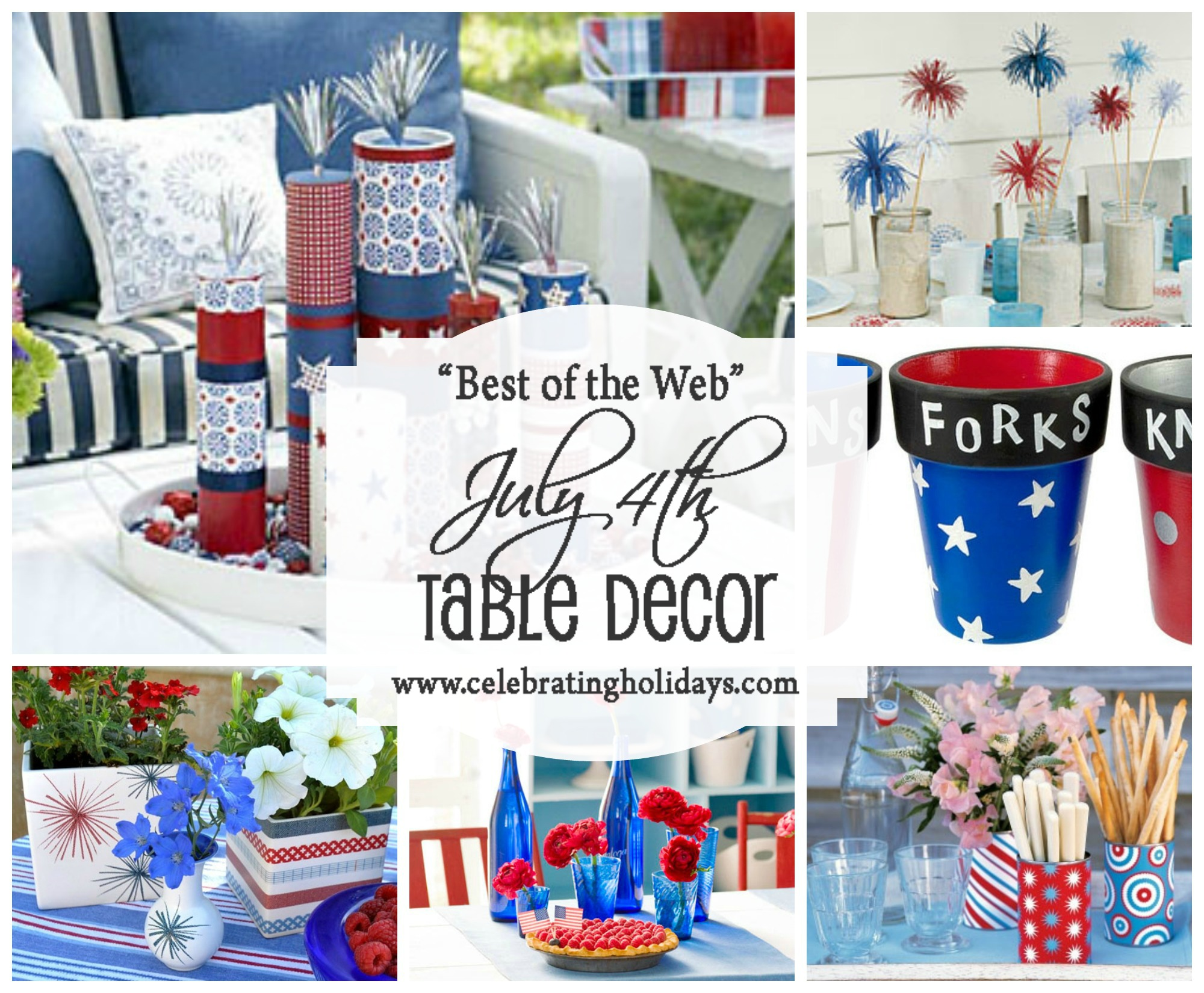 Table DIY Decorating for July 4th