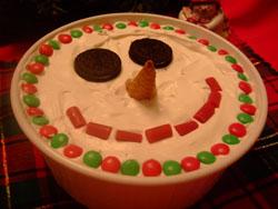 Ice-Cream Snowman Dessert