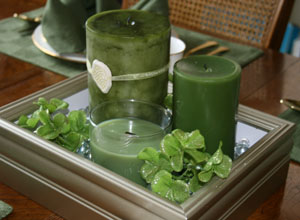 St. Patrick's Day DIY Box Frame Candle Centerpiece