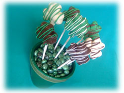 Chocolate Shamrock Bouquet Craft for St. Patrick's Day