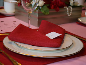 Valentine's Day Heart Fold Napkin