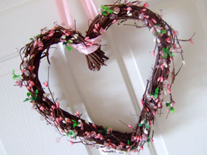 Valentine's Day DIY Heart Wreath Craft