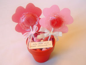 Lollipop Flower Pot Valentine's Day Gift