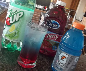 Red, White and Blue Soda How-to