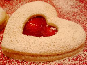 Peeking Heart Shortbread Cookies Recipe