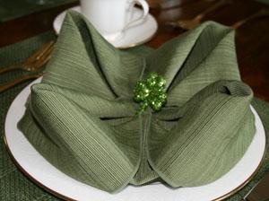 St. Patrick's Day Shamrock Fold Napkin