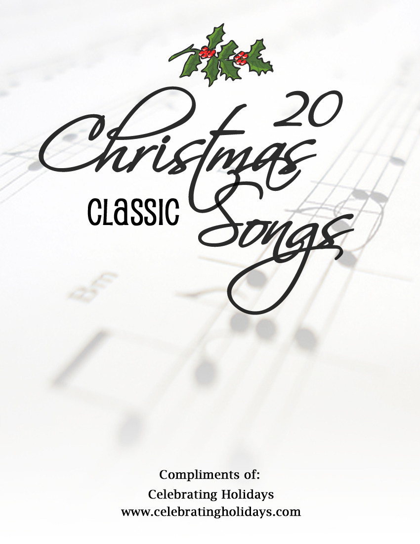 image relating to Christmas Carol Songbook Printable known as Free of charge Xmas Songbook Celebrating Vacations