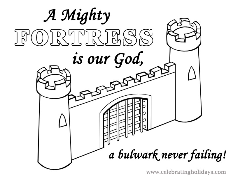 Free Reformation Day Coloring Page A Mighty Fortress Celebrating