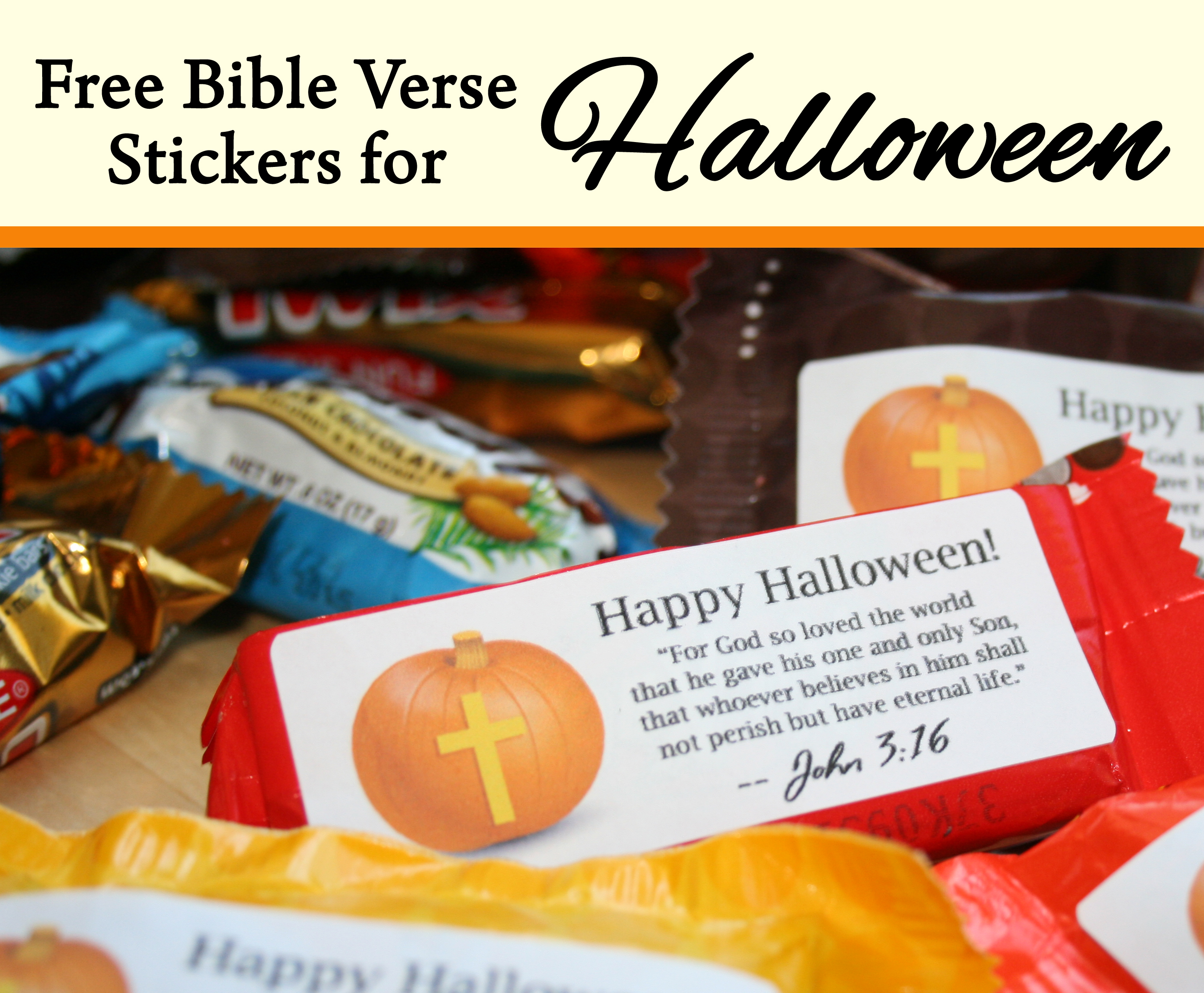Bible Verse Stickers for Halloween Candy