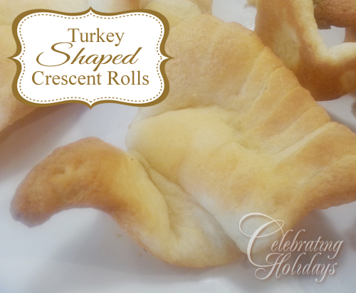 Turkey Shaped Crescent Rolls
