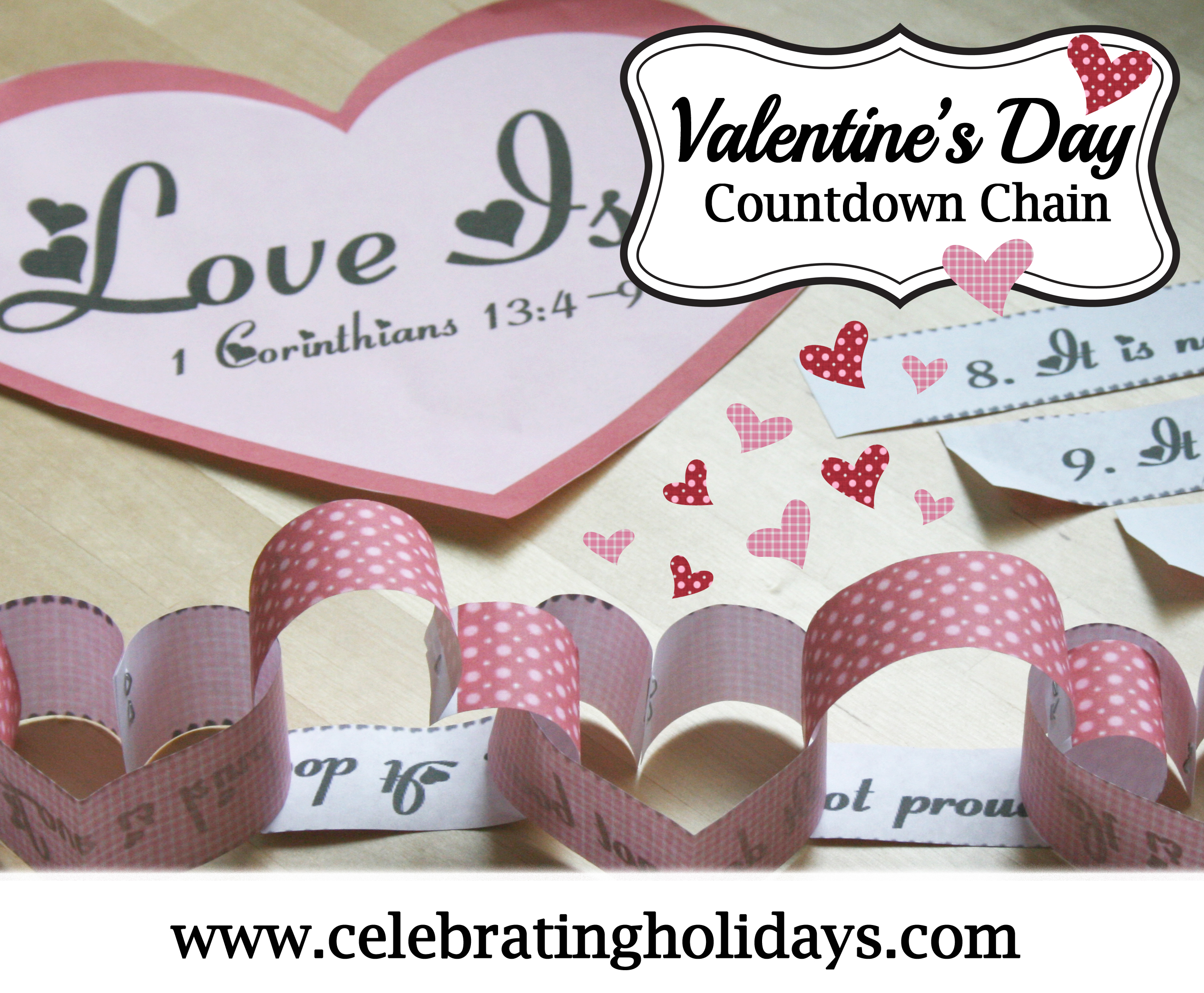 Valentine's Day Bible Countdown Chain