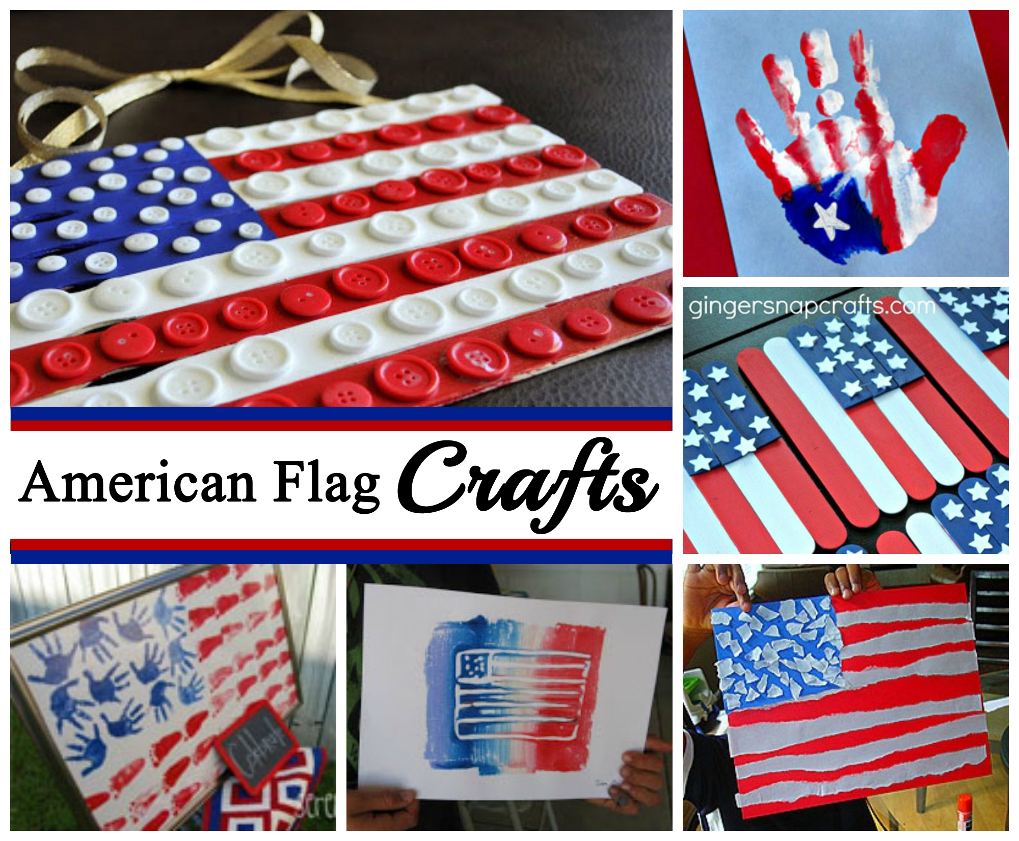 American Flag Crafts for July 4th