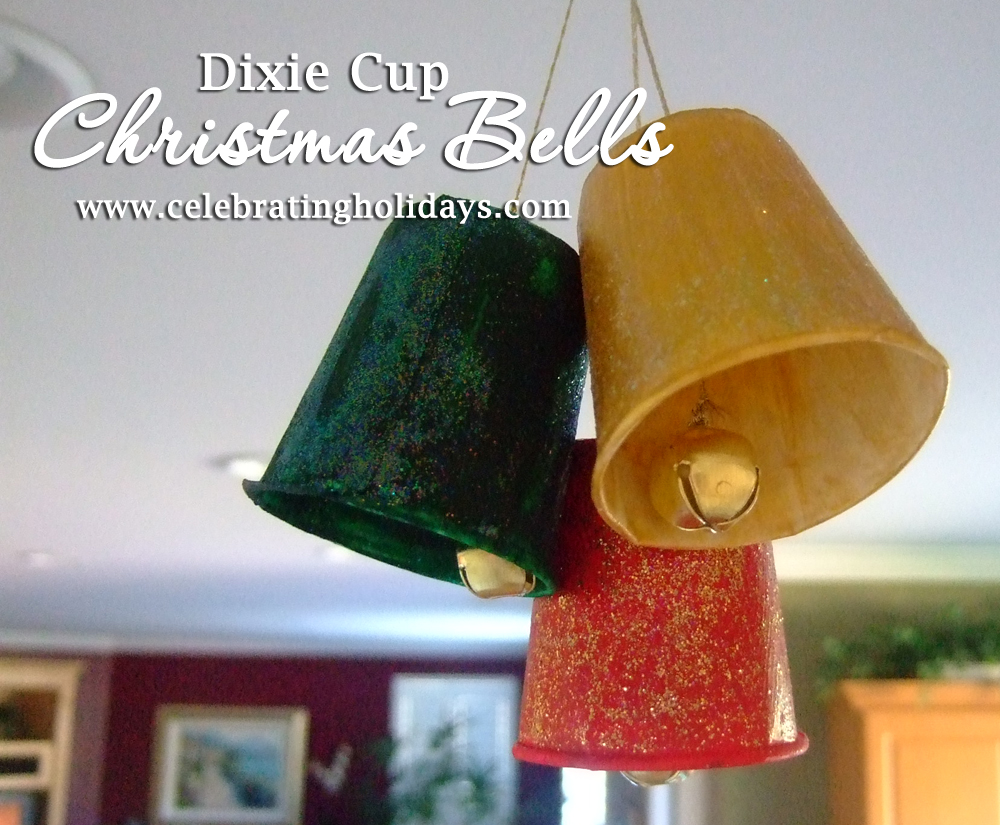 Dixie Cup Christmas Bells